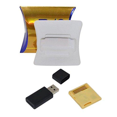 TAOHOU Adattatore per Scheda di Memoria Digitale Secure Micro Wide R4 SDHC Compatibile per DS Nero (d'oro)