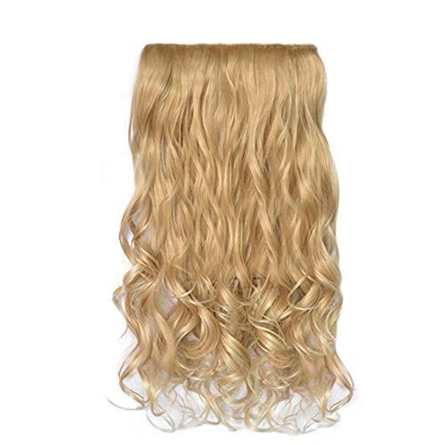 amen 1 Stück 5 Clip Mode In Haarverlängerungen Lockige Hübsche Frau Mädchen Lockige Perücke Haar ()