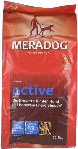 MERADOG Premium Active Trockenfutter I Kroketten für ausgewachsene Hunde mit erhöhter Aktivität I 12,5 Kg