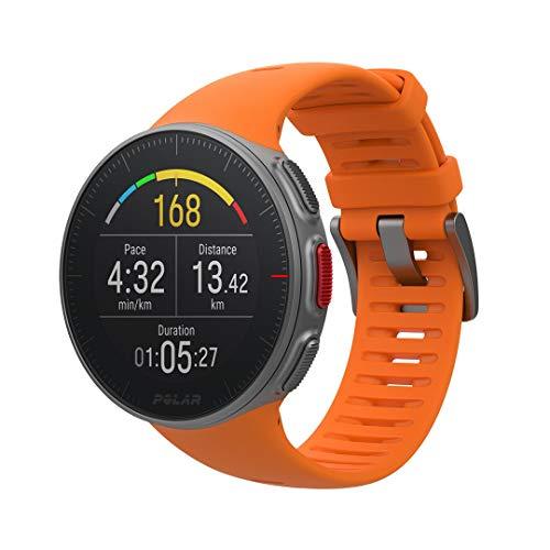 Polar Vantage V - Reloj Premium con GPS y Frecuencia Cardíaca, Multideporte y Perfil de Triatlón, Potencia de Running, Batería Ultra Larga, Resistente al Agua, Naranja, M/L (155 - 210 mm)
