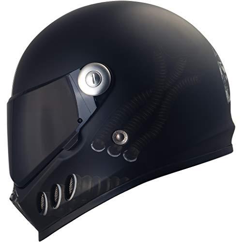Broken Head Gas Man | Motorrad-Helm Mit Schwarzem Visier | Der Szene Marken-Helm | Größe S (55-56 cm)