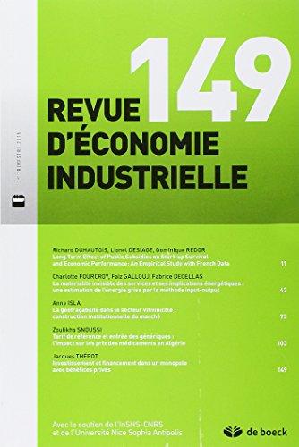 Revue d'économie industrielle : N°...