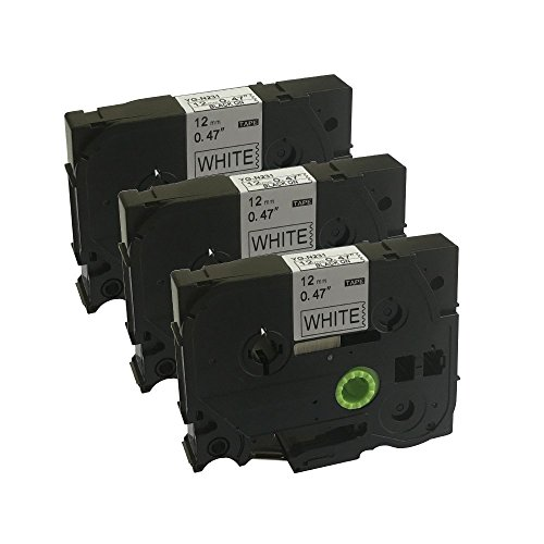 Neouza 3PK compatibile per Brother P-Touch Laminated TZe TZ Label tape Cartridge 12mm x 8m TZe-N231 Black on White