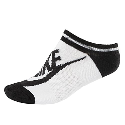 Nike Striped No Show Women Socks Socken 3er Pack (white/black, 35-38) (Show Sock No 3pk Kinder)