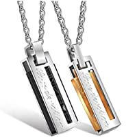 Men's Unisex Necklace s Set Black & Silver For Women Silver & Gold