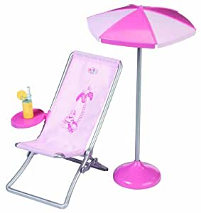 zapf creation 808436 baby born liegestuhl mit sonnenschirm spielzeug. Black Bedroom Furniture Sets. Home Design Ideas
