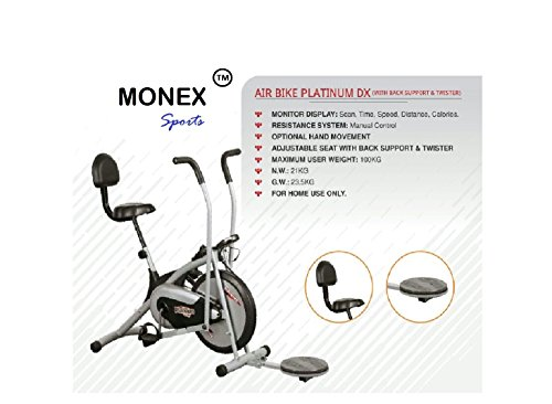 Monex Body Gym Air Bike Platinum DX (With Back Support & Twister)