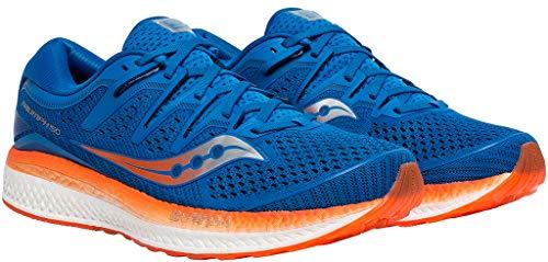 Saucony Triumph ISO 5, Zapatillas de Running por Hombre, Azul (Blue/Orange), 40.5 EU