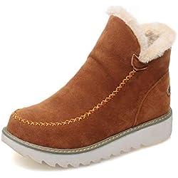 614ab68a Botas De Nieve Mujer Invierno Aire Libre Altas Calentar Forrado Botines  Snow Ankle Boots Zapatos De