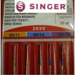 5original Singer coser agujas Surtido 2020grosor 80/1190/14100/16