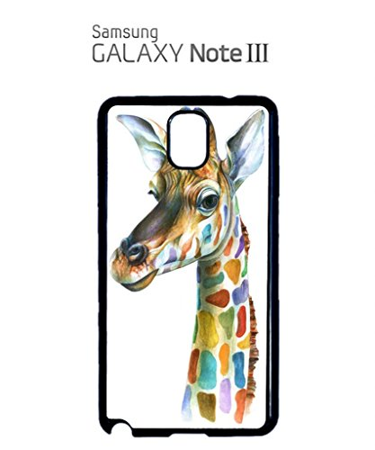 Giraffe Head Painting Mobile Cell Phone Case Samsung Galaxy S4 Mini Black Blanc