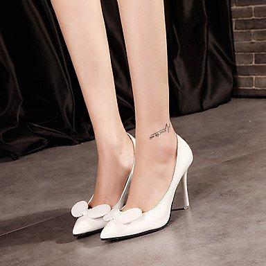 Moda Donna Sandali Sexy donna tacchi Primavera / Estate / Autunno Comfort PU Casual Stiletto Heel Bowknot nero / blu / verde / verde White