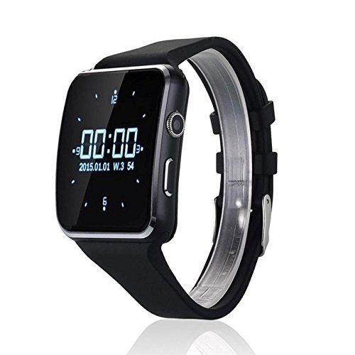 Ratzs X6 Apple iPhone 5s Compatible Bluetooth Smart Watch with Camera and Sim Card Support with Apps Like Facebook and Whatsapp for All 3G & 4G Android/iOS Smartphones (Black)