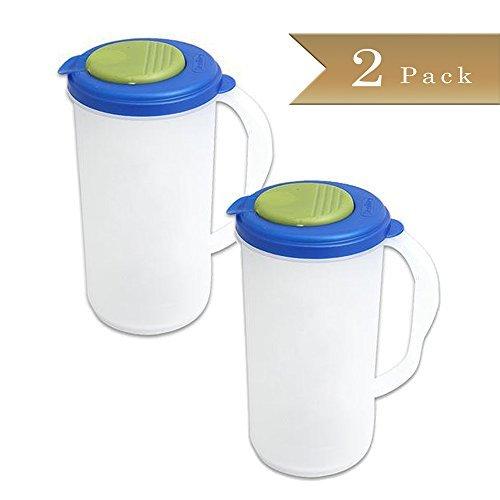 Set of 2 - Beverage Pitcher - 2 Quart -