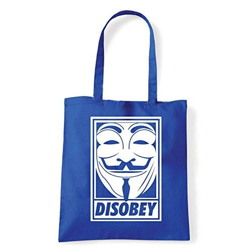 Art T-shirt, Borsa Shoulder Disobey, Shopper, Mare Blu