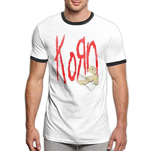 Patrick R Garrett Korn T-Shirts Trendy Herren Ringer T-Shirt Lässig Kurzarm T-Shirt Top -