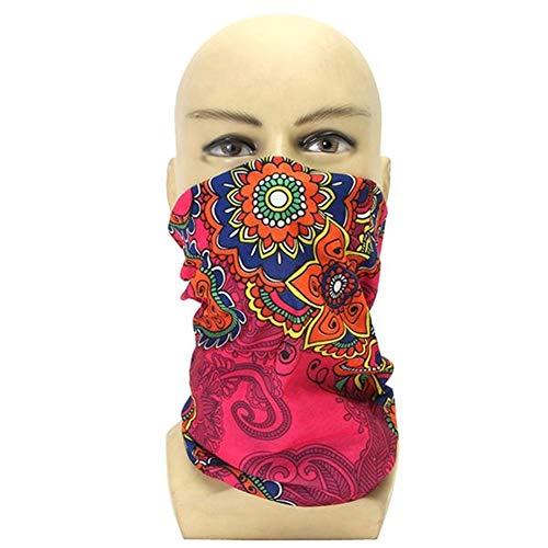 Maschera viso moto Cuffia da ciclista stampata con maschera for il cappello Cuffia con bracciale for pesca in moto Equitazione Corsa con gli sci (Colore : 1)
