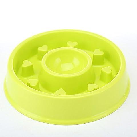 K&C Hundeschüssel Slow Feeder Interaktive Puzzle Katze Schüssel Gesunde Ernährung Diät Bloat Stop Happy Foraging Bowl Green