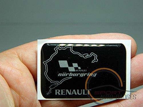 auto-badges-emblema-para-carrocera-diseo-del-circuito-nurburgring-y-logotipo-de-renault