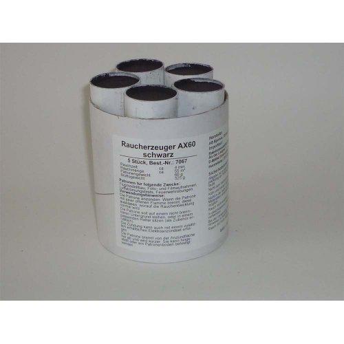 Rauchpatronen AX-60 schwarz 5 Stück
