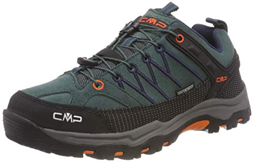 CMP Unisex-Erwachsene Rigel Low Trekking-& Wanderhalbschuhe, Schwarz (Jungle-B.Blue 77bn), 38 EU