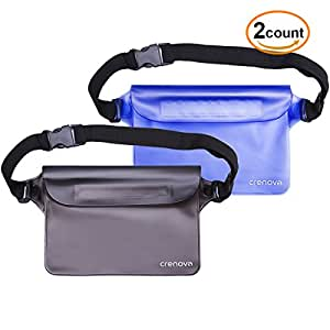 Crenova Waterproof Bag BP-02 100% Waterproof Case Dry Bag - Lightweight and Bigger Space; Perfect for Beach/Swimming/Boating - Protect Phone, Camera, Passport, Cards From Water, Sand, Dust