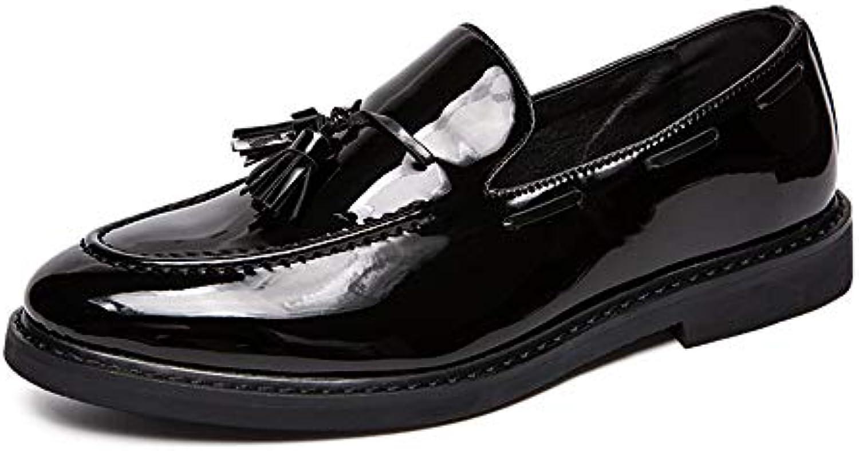 Xiazhi-scarpe, Scarpe da Uomo con Frange Spesse per Uomo Scarpe Scarpe Scarpe Formali per i Piedi (in Pelle Verniciata Opzionale... | Acquista  739905