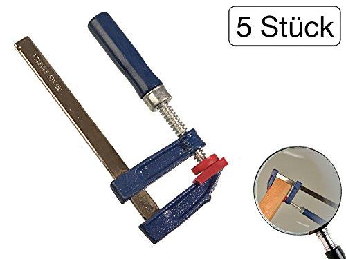 5 Stück Schraubzwinge 150 x 50 mm mit Holzgriff