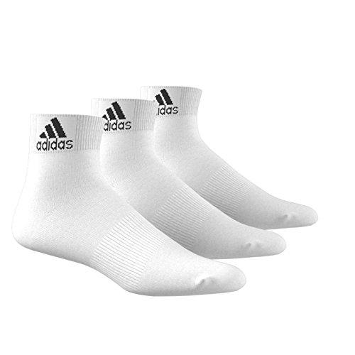 adidas Trainings/Knöchelsocken Performance dünne 3 Paar, weiß, 47-50, AA2320 (Dünne Laufen Socken)