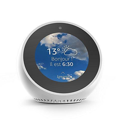 Amazon Echo Spot, Enceinte et écran connectés avec Alexa, Blanc