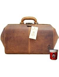 Bolso del doctor BONHOEFFER cuero marrón - BARON of MALTZAHN