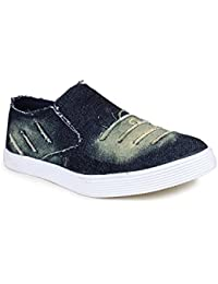 T-Rock Vision Blue Men's Casual Sneakers Stylish Loafers Shoes In Denim/ All Sizes