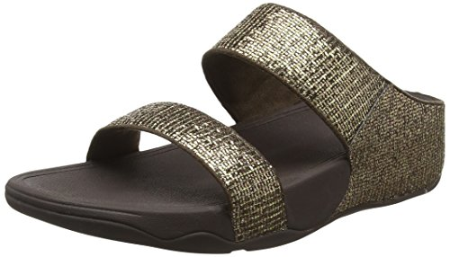 Fitflop Lulu Tm Superglitz Slide, Infradito Donna, Oro (Copper), 38 EU