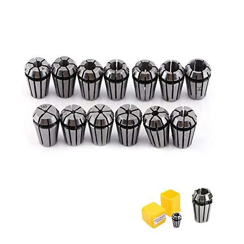 TopDirect 13PCS ER11 Spannzangen Set Hochklemmkraft zum Bohren Tapping 1-7mm