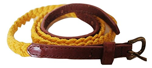 john-lewis-skinny-cotton-plait-with-real-leather-tabs-belt-in-yellow-size-small-small-up-to-38waist