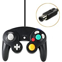 KOBWA Contrôleur Classique Filaire Joypad Gamepad/Manette Contrôleur de Jeu Filaire Compatible avec Nintendo Wii Gamecube
