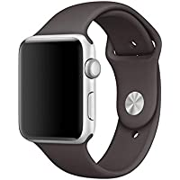 BigbigWo Silicone Apple Watch Cinturino Sport Cacao 42mm Band Replacement