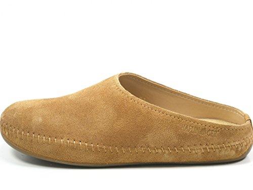 Haflinger 488023-0 Everest Softino Damen Herren Hausschuhe Pantoffeln , Schuhgröße:42;Farbe:Braun (Leder-schuhe Haflinger)