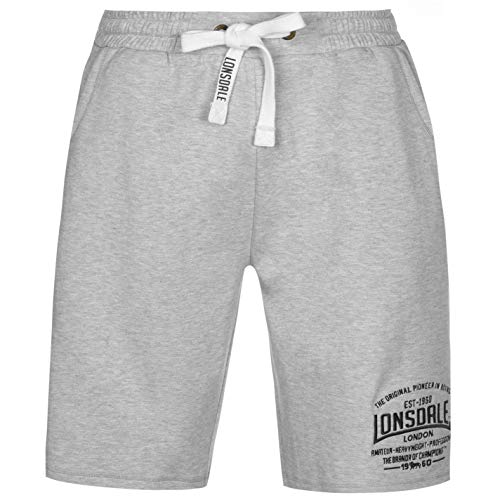 Lonsdale mens box lightweight shorts pants bottoms boxing sports clothing grey marl xl