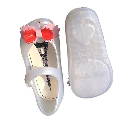 Praia Miúdos Sapatos Sandálias Menina Bowknot derrapante Criança Geléia Boca Meijunter De Botas Brancas Suave Chuva Peixe Casuais De Anti Bonito AzZK7q