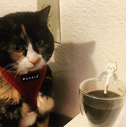 Ayomi 4Edelstahl Katze Kätzchen Design Edelstahl Kaffee/Dessert/Drink/mischen/Milchshake Löffel Geschirr Besteck Gadgets Scoop Schöpfkelle Löffel - 8