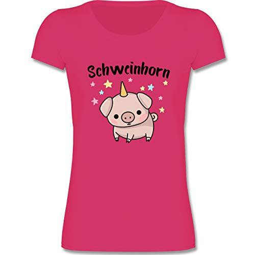 Karneval & Fasching Kinder - Schweinhorn - 122-128 (7-8 Jahre) - Fuchsia - F288K - Mädchen ()