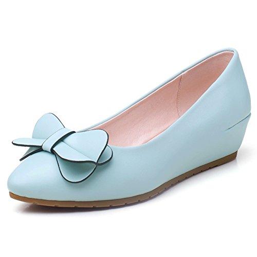 Dolce autunnale luce scarpe a punta/ aumentare scarpe da prua/Scarpe zeppe/Donne tacchi-D Lunghezza piede=22.8CM(9Inch)