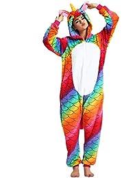 JYSPORT, pijamas de unicornio, forro polar, con capucha, pijama para niños,