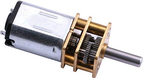 Yeeco DC 3-6V 100RPM Esfuerzo de Torsión Mini Velocidad Reducción Motor con Metal Rueda de Engranaje Reemplazo 10mm Eje Para el Bricolaje RC Coche Robot Modelo Motor Juguetes Partes
