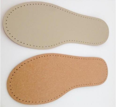 Schuhsohle Leder für gestrickte, gehäkelte oder gefilzte Schuhe