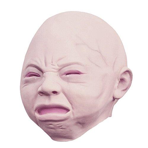 Soxid (TM) Gruselige Halloween-Kost¨¹m-St¨¹tze Cry Baby den Kopf voller Latex-Maskerade-Maske Lustige Partei-Gesichtsmasken