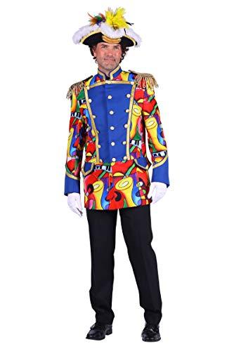Thetru Herren Kostüm Jacke Uniform Garde Admiral Würfel Karneval Gr.L -