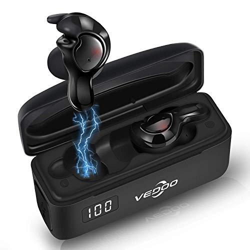 Kabellose Kopfhörer Bluetooth 5.0 Kopfhörer - Neueste In-Ear-Ohrhörer Lauf-Ohrhörer 3D HiFi Stereo Sound mit 16H Spielzeit, Physische Rauschunterdrückung - 5 Glossen