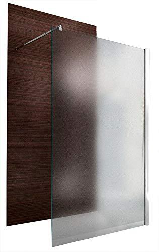 Duschabtrennung Walk-In Nano Echtglas EX101 - Milchglas - Breite wählbar, Breite Walk-In:1200mm